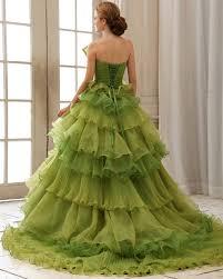 green wedding gown vosoi com