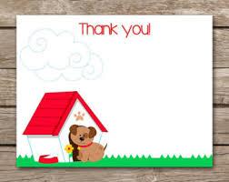 dog thank you card etsy