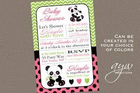 s shower invitations panda baby shower invitation girl invitation panda shower