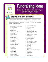 fundraising ideas grass roots ideas to raise money for your