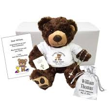personalized graduation teddy say it with a personalized teddy or stuffed animal gift say