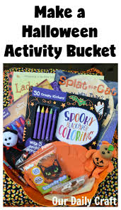 make a halloween activity bucket for halloween fun our daily craft