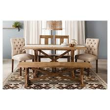 target dining room furniture beekman 1802 farmhouse harvester 62 dining bench rustic brown