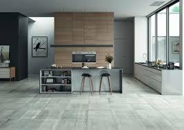 cuisine sol gris decoration cuisine moderne