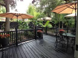 Backyard Decks And Patios Ideas by Backyard Deck With Black Slate Waterproof Stain Backyard Deck