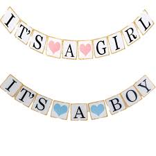 baby shower banners iridescent paper photo props girl boy baby shower banner its a boy