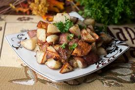 italian garlic oven roasted potatoes wishes and dishes