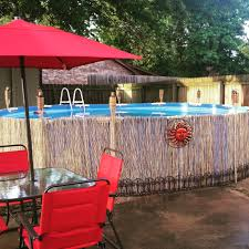 bamboo fencing above ground pool bamboo fencing for our above