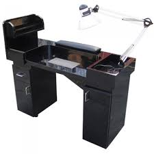 manicure table with built in led light beauty salon furniture vented manicure table model nt 120