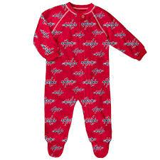newborn infant washington capitals team print raglan sleeve
