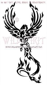 tribal phoenix rising tattoo design real photo pictures images