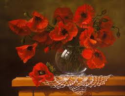 poppy home decor online shop red poppy flower still life oil painting print on