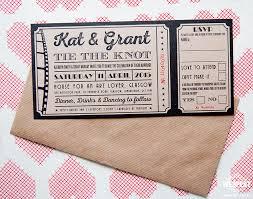 wedding invitations glasgow vintage cinema ticket wedding invites and wedding stationery wedfest