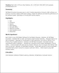 Sample Resume For Sap Mm Consultant Sample Resume For Food Counter Attendant Cheap Admission Paper