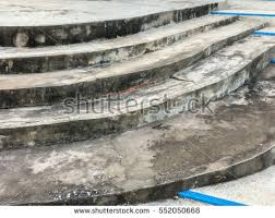 closeup old destroyed concrete stairway stock photo 31043605