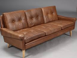 retro leather sofas vintage danish mid century svend skipper 3 seater cognac leather