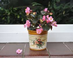 Shabby Chic Flower Pots by Flower Plant Pot Etsy