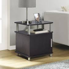 glass top end table with drawer espresso furniture espresso end tables archer table with shelf drawer set
