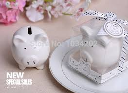 piggy bank favors li l saver favor ceramic mini piggy wedding favor wedding gift