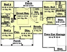 european style house plan 3 beds 2 00 baths 1600 sq ft plan 430 19