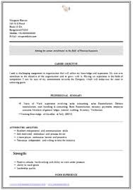 Fresher Accountant Resume Sample by Professional Curriculum Vitae Resume Template Sample Template Of