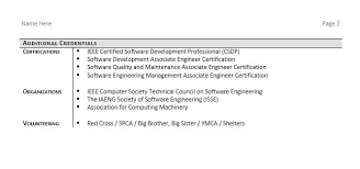 resume with certifications sample software engineer resume example