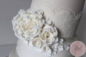 elegant lace and pearl wedding cake wedding cakes by the pink