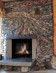 fireplace stone rustic living room with stone fireplace concrete floors zillow