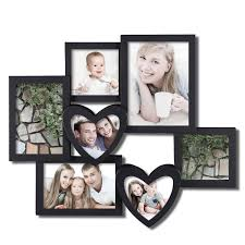 Wall Picture Frames by Amazon Com Adeco 7 Openings Decroative Black Collage Picture