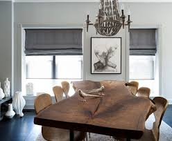 Transitional Chandeliers For Dining Room Reclaimed Live Edge Oak Table Dining Room Transitional With Condo
