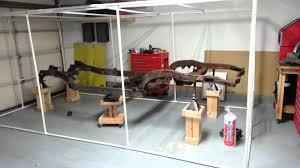 1966 corvette diy blast paint booth part 2 3 youtube