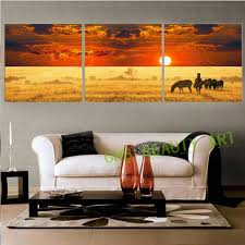 art painting for home decoration aliexpress com buy 3 panels hd africa nature canvas art modern