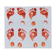 How To Keep Footprints Off Laminate Floors Amazon Com Set Of 8 Bloody Footprints Floor Clings Toys U0026 Games