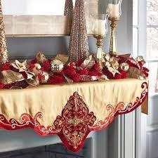 mantel scarf beaded mantel scarf gold christmas