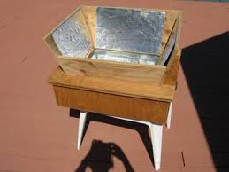 home made wooden box solar oven