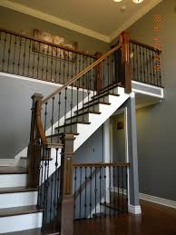 Banister Newel Wood Stairs And Rails And Iron Balusters Hardwood Stair
