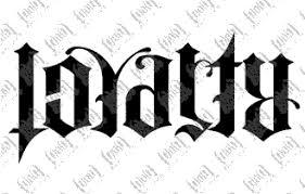 beautiful loyalty ambigram design