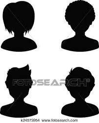 imagenes para perfil de jovenes clipart avatar perfil siluetas de jóvenes hombre y mujer