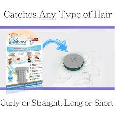 amazon com sinkshroom the revolutionary sink drain protector hair