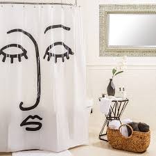 target debuts kate worum s whimsical bath bedding prints face shower curtain black white room essentials 9 99 target stores and target com
