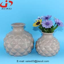 chinese home decor vase white ceramic pineapple shaped vase buy