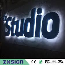 factory outlet outdoor backlit metal advertising sign letters