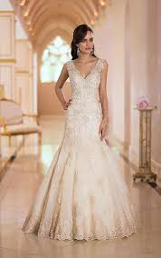 gorgeous gold wedding dresses pearls and lace wedding dresses