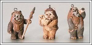 wars ewoks 1998 hallmark miniature ornament