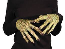Latex Halloween Costumes Monster Hands Skeleton Zombie Realistic Latex Custom Fit