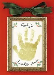 baby s handprint ornament baby