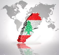 What Tree Is On The Lebanese Flag Map Of Lebanon With Lebanese Flag On A World Map Background Stock