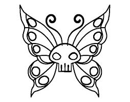 imagenes de mariposas faciles para dibujar dibujo de mariposa emo para colorear dibujos net