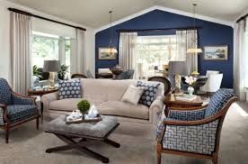 Dining Room Accents Ideas Living Room Accents Peaceful Design Blue Accent Wall