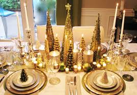 White Christmas Table Decorations by Modern Concept Gold And White Christmas Table Decorations With